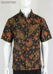 Kemeja Batik Pendek Jumbo Santoso Klasik