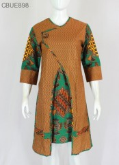 Tunik Dress Batik  Blarak Hijau 9029