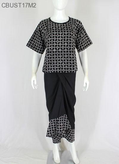 Setelan Etnik Batik Hitam Klasik