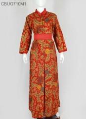 Gamis Batik Santoso Merah