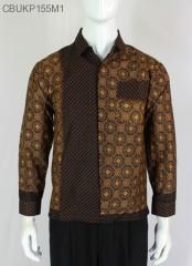 Kemeja Batik Panjang Cappucino