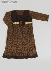 Gamis Batik Anak Cappucino Size L