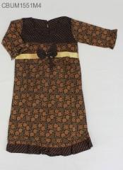 Gamis Batik Anak Cappucino Size M