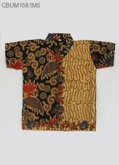 Hem Batik Anak Motif Daun Size L