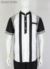 Koko Batik Ayodia Hitam Putih