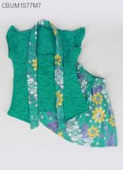 Setelan Dress Kutubaru Pendek Motif Bunga