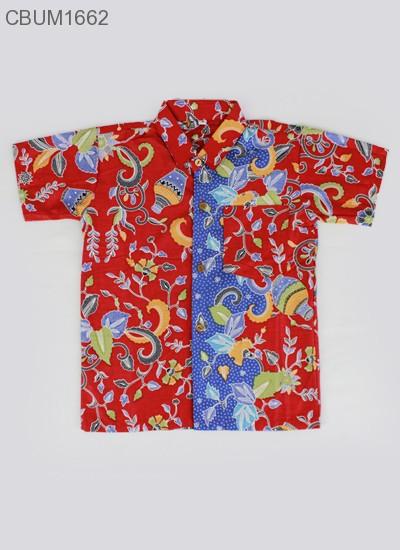 Hem Batik Anak Katun Cibulan Gentong Merah