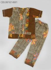 Baju Batik Piyama Anak Motif Salur XL
