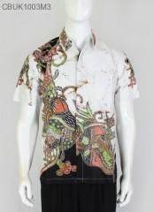 Hem Batik Pendek Remekan Putih