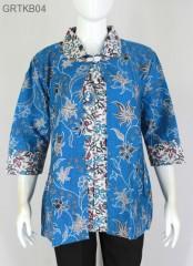 Atasan Batik Couple Blus Bolero Biru