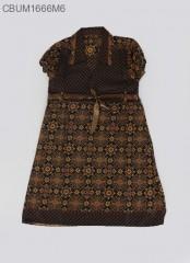 Dress Anak Pias Motif Cappucino Size L