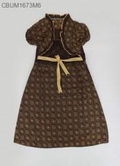 Dress Anak Yolanda Katun Motif Capocino Size XL