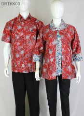 Hem Batik Couple Merah