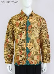 Kemeja Batik Panjang Garis Bunga