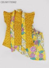 Setelan Dress Kutubaru Pendek Motif Bunga Size 2