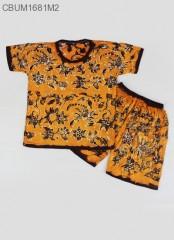 Setelan Kaos Anak Batik Cap Pesisir Size  1
