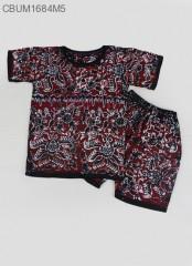 Setelan Kaos Anak Batik Cap Pesisir Size 3