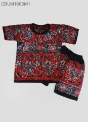 Setelan Kaos Anak Batik Cap Pesisir Size 4
