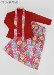 Setelan Kebaya Anak Batik Bunga Size 6