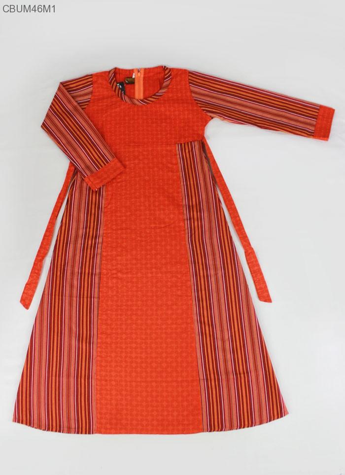 Gamis Anak Lurik Katun Batik Embos Inara