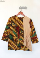 Blus Batik Kombinasi Polos Parang Nirwana