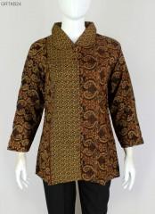 Blus Batik Printing Motif Klasik Coklat