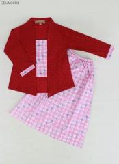 Dress Batik Kebaya Anak Kartini Panjang PAUD-TK