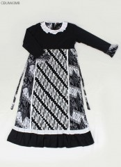 Gamis Anak Rempel Monochrome Ayodia