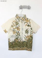 Kemeja Anak Batik Katun Cibulan Anggreak Hijau (3-4 th)