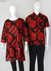 Tunik Batik Ceplok Piring Merah