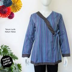 Blouse Lurik Halus Kimono Inara