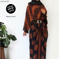 Gamis Kaftan Batik Sogan Paris
