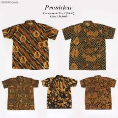Hem Batik Jawa Klasik Anak Presiden Size 7