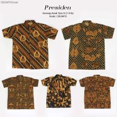 Hem Batik Jawa Klasik Anak Presiden Size 8
