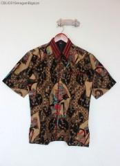 Kemeja Batik Blarak Pendek Motif Merah