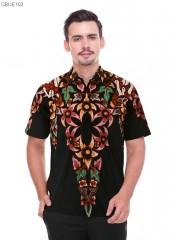 Kemeja Batik Blarak Motif AHY 4 Hitam