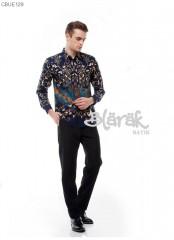 Kemeja Batik Blarak Motif Flora Kersa