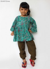 Koleksi Batik Anak Motif Cuwiri Hijau