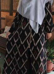 (Free Masker) Longouter Gamis Blarak Batik Cap Motif Songket Layang