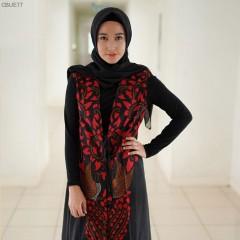 Outer Batik Blarak Motif AHY 2 Merah