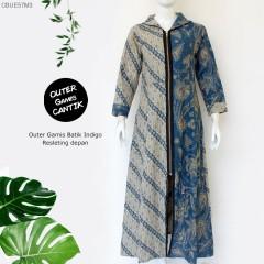 Outer Gamis Batik Indigo