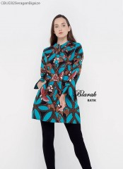 Tunik Batik Blarak Motif Kawung Gajah Tosca
