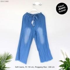 Celana Kulot Plisket Jeans Sandart
