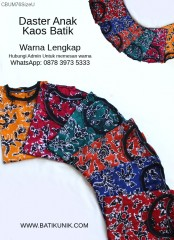 Daster Anak Kaos Halus Batik Cap Warna