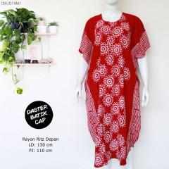 Daster Kelelawar Batik Cap Merah Resleting Depan