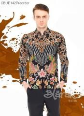 Kemeja Batik Blarak Mega Dharya Hitam