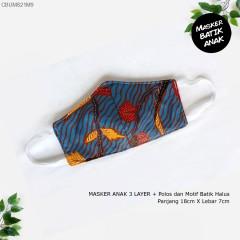 Masker Anak Batik 3 layer Bolak Balik
