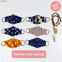 Masker Batik Cap Exclusive Bolak Balik Earloop