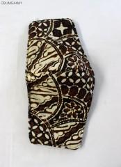 Masker Batik Sogan 3 layer Headloop