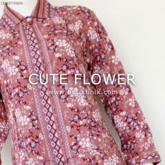 Set Kemeja Rayon Bunga Cantik